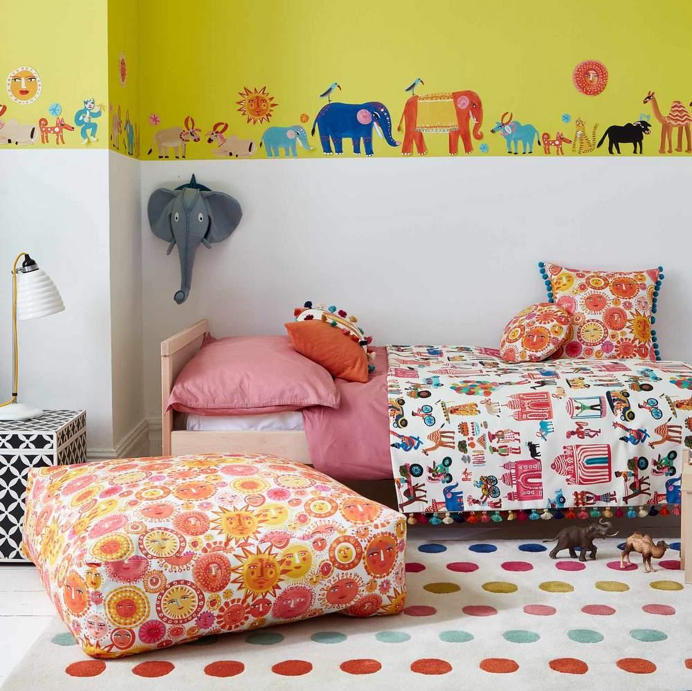 Kinderzimmer Sonne Wandsticker